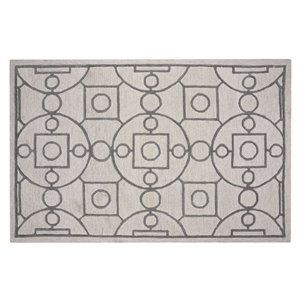 Collection Bourbon Street Annapolis Area Rug - 5-ft x 8-ft - Ivory