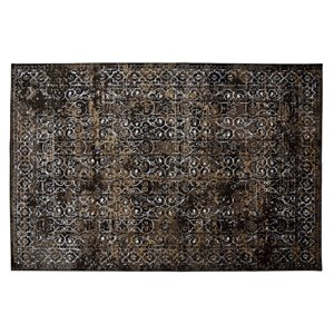 Tapis Riverside de la Collection Bourbon Street, 8 pi x 10 pi, brun