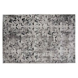 Tapis Stamford de la Collection Bourbon Street, 5 pi x 8 pi, gris clair