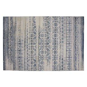 Tapis Jasper de la Collection Bourbon Street, 5 pi x 8 pi, bleu clair