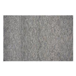 Tapis Greenfield de la Collection Bourbon Street, 5 pi x 8 pi, gris