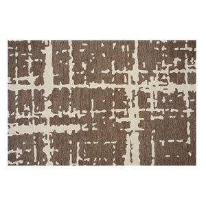 Tapis Fairhaven de la Collection Bourbon Street, 8 pi x 10 pi, brun