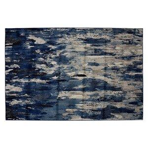 Tapis Bakersfield de la Collection Bourbon Street, 5 pi x 8 pi, bleu