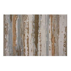 Tapis Northfield de la Collection Bourbon Street, 8 pi x 10 pi, beige