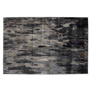 Tapis Bakersfield de la Collection Bourbon Street, 8 pi x 10 pi, gris