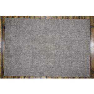 Tapis Burlington de la Collection Bourbon Street, 8 pi x 10 pi, gris