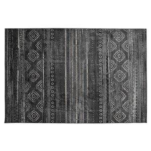 Tapis Montrose de la Collection Bourbon Street, 5 pi x 8 pi, gris