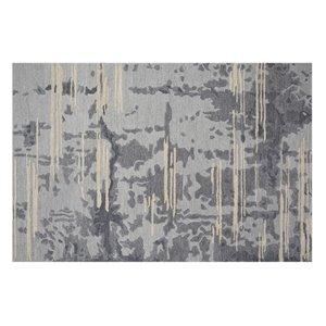 Tapis Northfield de la Collection Bourbon Street, 8 pi x 10 pi, gris clair