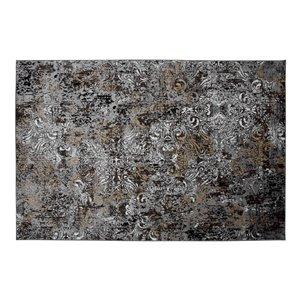 Tapis Camden de la Collection Bourbon Street, 5 pi x 8 pi, gris