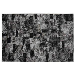 Tapis Lakeland de la Collection Bourbon Street, 8 pi x 10 pi, gris