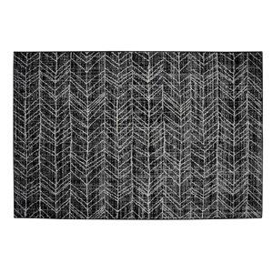 Tapis Birmingham de la Collection Bourbon Street, 5 pi x 8 pi, gris
