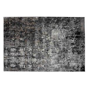 Tapis Cortez de la Collection Bourbon Street, 8 pi x 10 pi, gris