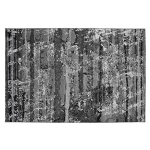 Collection Bourbon Street Gainesville Area Rug - 8-ft x 10-ft - Light Grey