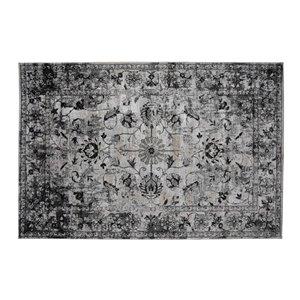 Tapis Westford de la Collection Bourbon Street, 5 pi x 8 pi, gris clair