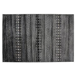 Tapis Anniston de la Collection Bourbon Street, 5 pi x 8 pi, gris