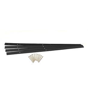 EasyFlex Aluminum Edging Kit - Black - 24-ft