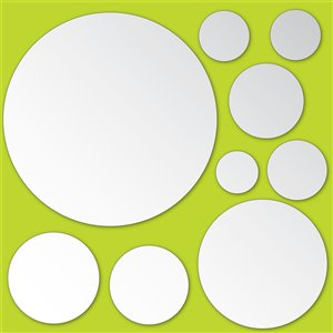 Brewster Dots Mirror Self-Adhesive Wall Art Kit - 13-in x 26-in - Set of 18