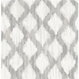 NuWallpaper Trellis Self-Adhesive Vinyl Wallpaper - 30.75-sq. ft. - Grey