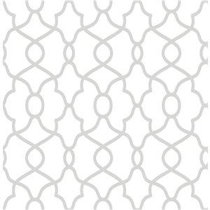 NuWallpaper Self-Adhesive Vinyl Wallpaper - 30.75-sq. ft. - Silver