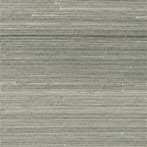 Papier peint non encollé en toile de ramie Hexi Canton Road par Kenneth James, 72 pi², gris