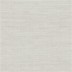 Papier peint encollé Birch & Sparrow par Chesapeake, 56,4 pi², gris clair