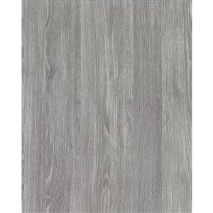 Film auto-adhésif effet bois rustique de DC Fix, 157,48 po x 17,7 po, gris, ens. de 2