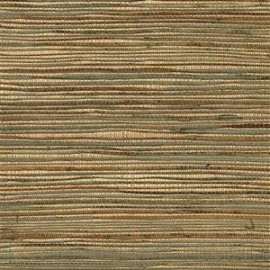 Papier peint non encollé en toile de ramie Ozamic Canton Road par Kenneth James, 72 pi², cuivré