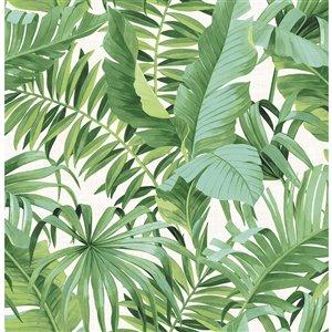NuWallpaper Maui Self-Adhesive Vinyl Wallpaper - 30.75-sq. ft. - Green