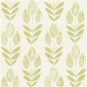 Brewster Bath Bath Bath IV Unpasted Nonwoven Wallpaper - 56.4-sq. ft. - Light Green and Beige
