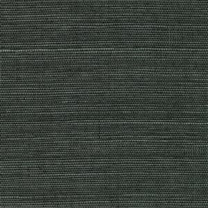 Kenneth James Canton Road Unpasted Grasscloth Wallpaper - 72-sq. ft. - Charcoal Grey