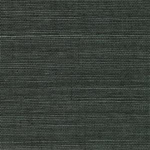 Papier peint non encollé en toile de ramie Canton Road par Kenneth James, 72 pi², gris graphite