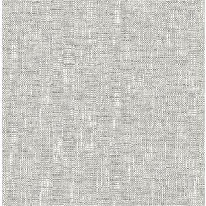 NuWallpaper Poplin Self-Adhesive Vinyl Wallpaper - 30.75-sq. ft. - Grey