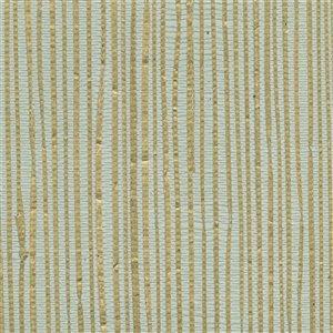 Papier peint non encollé en toile de ramie Jade par Kenneth James, 72 pi², vert