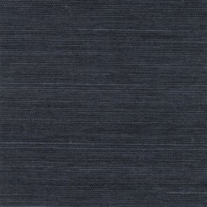 Papier peint non encollé en toile de ramie Canton Road par Kenneth James, 72 pi², bleu marin