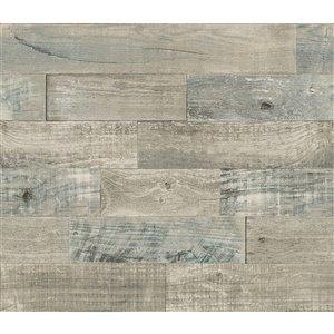 Brewster Coastal Wood Self-Adhesive Peel and Stick Backsplash Tile - 18-in x 108-in