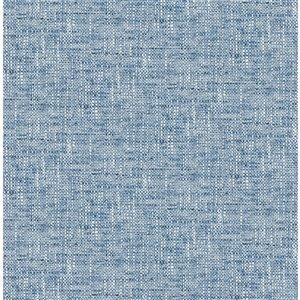 NuWallpaper Poplin Self-Adhesive Vinyl Wallpaper - 30.75-sq. ft. - Blue