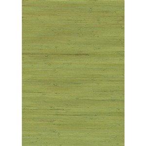 Papier peint non encollé en toile de ramie Jiangsu par Kenneth James, 72 pi², vert