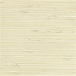 Papier peint non encollé en toile de ramie Canton Road par Kenneth James, 72 pi², crème