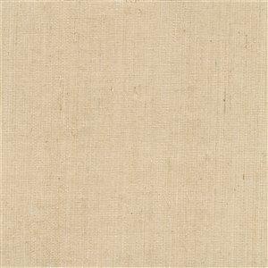 Papier peint non encollé en toile de ramie Ruslan Jade par Kenneth James, 72 pi², beige