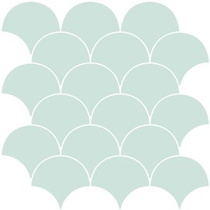 InHome Shell Self-Adhesive Peel and Stick Backsplash Tile - 20-in x 20-in - Set of 4 Panels