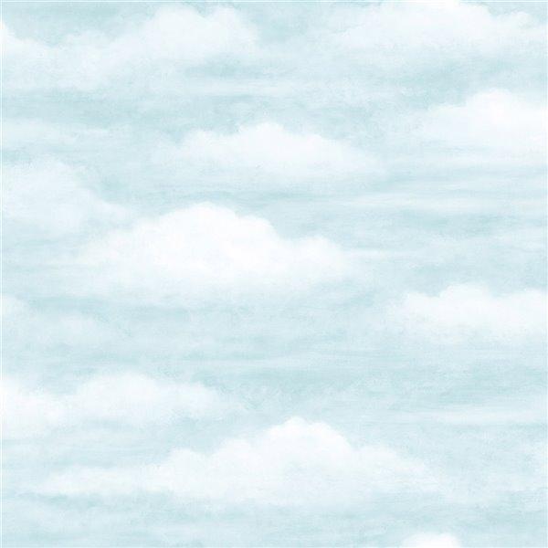 Papier peint encollé Totally For Kids par Chesapeake, 56,4 pi², bleu