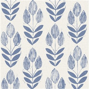 Beacon House Simple Space 2 Unpasted Nonwoven Wallpaper - 56.4-sq. ft. - Blue and Beige
