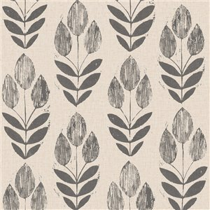 Beacon House Simple Space 2 Unpasted Nonwoven Wallpaper - 56.4-sq. ft. - Black and Beige