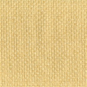 Papier peint non encollé en toile de ramie Shangri La par Kenneth James, 72 pi², jaune
