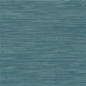 NuWallpaper Grassweave Self-Adhesive Vinyl Wallpaper - 30.75-sq. ft. - Blue