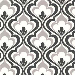 Beacon House Simple Space 2 Unpasted Nonwoven Wallpaper - 56.4-sq. ft. - Black and White
