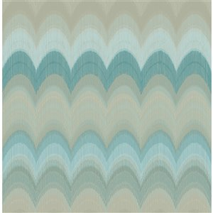 Kenneth James Azmaara Unpasted Nonwoven Wallpaper - 56.4-sq. ft. - Teal