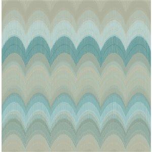 Papier peint non encollé et non tissé Azmaara par Kenneth James, 56,4 pi², sarcelle