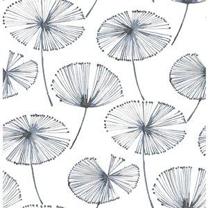 Papier peint autoadhésif en vinyle par NuWallpaper, 30,75 pi², blanc et bleu foncé