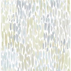 NuWallpaper Self-Adhesive Vinyl Wallpaper - 30.75-sq. ft. - Blue and Grey
